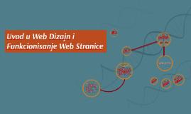 Uvod u Web Dizajn i Fukcionisanje Web Stranice