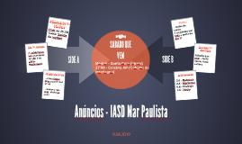 Anúncios - IASD Mar Paulista