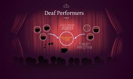 Deaf Performers