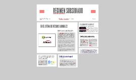 REGIMEN SUBSIDIADO EN RIESGOS LABORALES