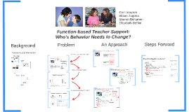 Copy of Edited Function-based Teacher Support: Whose Behavior?