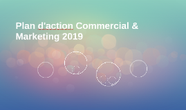 Plan d'action Commercial & Marketing 2019