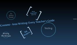 RDG 507 Content-Area Writing