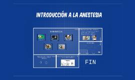 introducción a la anestesia