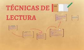 TECNICAS DE LECTURA
