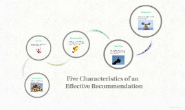 Five Characteristics of an Effective Recommendation