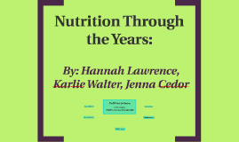 Nutrition Through the Years: