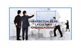TEMAS ACTUALES DE LA CULTURA ORGANIZACIONAL