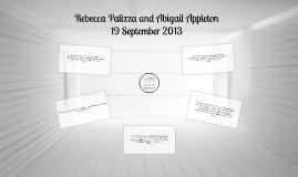 Rebecca Palizza and Abigail Appleton