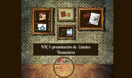 NIC 1: presentación de  Estados Financieros