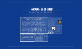 Copy of Brake bleeding