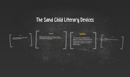 The Sand Child Literary Devices