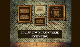 MALARSTWO FRANCUSKIE XVII WIEKU