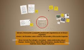 Copy of Género, Innovación y pequeña producción algodonera en el Cha