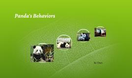 Panda's Behaviors