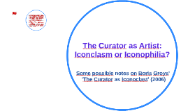 The Curator as an Artist_OK