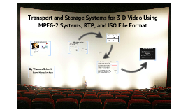 3-D video storage and transport