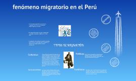fenomeno migratorio en el peru