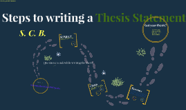 Copy of Steps to writing a Thesis Statement