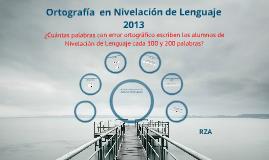Ortografía 2013