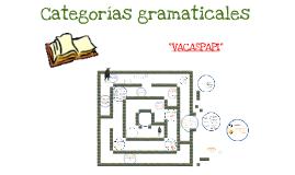 Copy of Categorias gramaticales