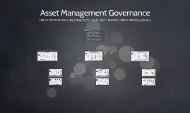 Governance options for your infrastructure asset management system