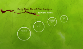 Daily Food Plan & Diet Analysis