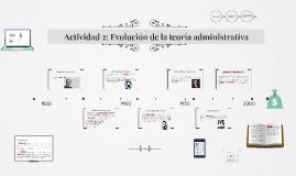Actividad 2: Evolución de la teoría administrativa