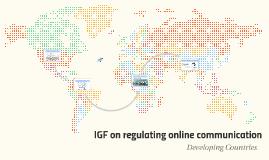 IGF on regulating online communication