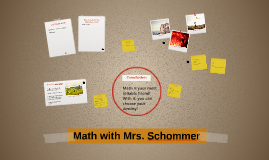 Math with Mrs. Schommer