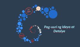 Copy of Copy of Pag-uuri ng Ideya at Detalye