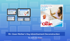 Mr. Clean Mother's Day Advertisement