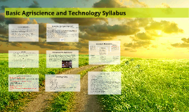 Fall 2016 Agriscience Syllabus and Student Handbook