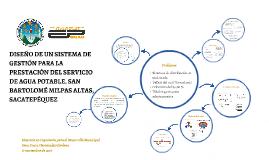 SISTEMA DE GESTIÓN PARA LA PRESTACIÓN DEL SERVICIO DE AGUA P