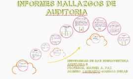 INFORME DE HALLAZGOS DE AUDITORIA