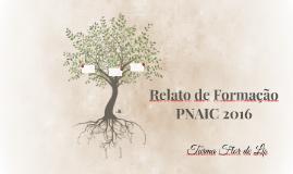 Relato de Formação PNAIC 2016