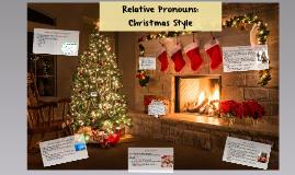 Relative Pronouns: