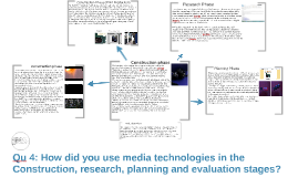 Qu 4: How did you use media technologies in the Construction