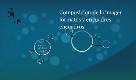 Composicion de la imagen formatos y encuadres encuadros
