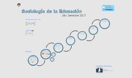 Sociología de la Educación. UMCE 2013