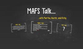 MAFS Talk...
