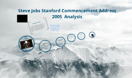 Copy of Steve Jobs Stanford Commencement Address 2005 Analysis