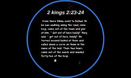 2 kings 2:23-24