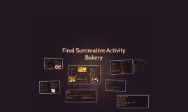 Final Summative Activity