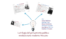 La trilogía del pensamiento político revolucionario moderno