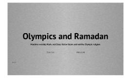 Olympics and Ramadan