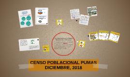 CENSO POBLACIONAL PUMAS DICIEMBRE, 2018