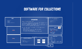 Software for Collections