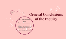 Copy of General Conclusions of the Inquiry