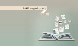 LAMP -August 23, 2017